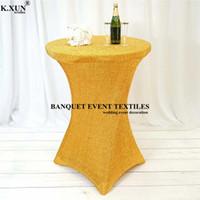 Panno da tavolo 2021 Design Shipy Sequin Spandex Cocktail Copertura per la decorazione del partito dell'evento di nozze