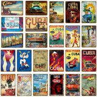 2021 Retro Odwiedź Kuba Libre Metal Znaki Pub Bar Pokój Klub Mężczyzna Cave Piwo Hom Decor Vintage Wall Art Carft Malarstwo Plaque Hawana Night Poster