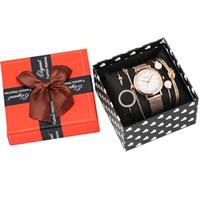 مجموعة سوار نسائية روز الذهب الكوارتز التناظرية الساعات السيدات الفولاذ المقاوم للصدأ حزام ساعة اليد للإناث 201216