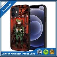 Astronauta dos desenhos animados entre nós capa de telefone do jogo para iphone 12 pro max mini 11 pro xs max 8 7 6 6 s mais x 2021 xr caso