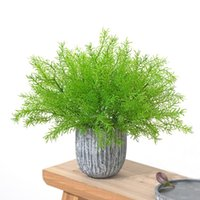 Decoratieve bloemen kransen 1 stks kunstmatige asperges fern gras hoge kwaliteit struik bloem thuis kantoor groene plastic plant