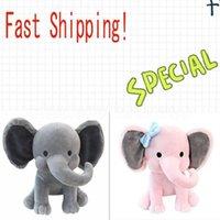 2 couleurs enfants d'éléphant d'éléphant Soft oreiller peluté animaux poupées douces poupées jouets enfants dormant rembourrage coussin enfants cadeau cadeau de fête