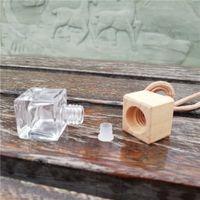 Bouteille de parfum de voiture transparente aromatique magie aromatique Therapie carré carré Suspendre vide Essential Huile Diffuseur Bouteilles Nouveau 1 4cy K2