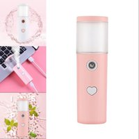 Love Heart Lady Facial Cosmetic Instrument Water Supply 13cm Humidification Machine Pillar Shape Handheld Face Steaming Device USB 6 5cl G2