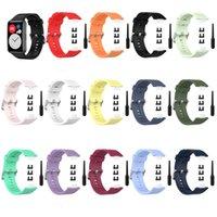 Silikon Yedek Kayış Bileklik Watch Band Huawei Fit TIA-B09 / TIA-B19 Spor Bilek Bilezik Su Geçirmez