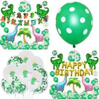 Набор воздушных шаров динозавров с днем рождения Слова Детская вечеринка фон фон украшения стены воздушные шары Детские игрушки горячие продажи 27GX J2