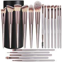 BS-Mall-Make-up-Bürste Set 18 Stücke fortgeschrittener synthetischer Foundation Pulver Concealer Lidschatten Blush Make-up Pinsel Champagner Gold Makeup BRU