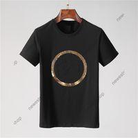 2021 Nouveau Designer d'été Mens Tshirt Broderie Broderie Cercle Grande lettre Imprimer T-shirt occasionnel Femmes Luxe T-shirt Robe Tee Tee Tee Tee