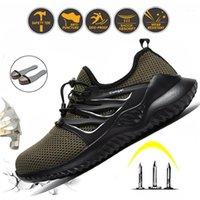 Stiefel Stahl Zehen Ryder Bau Sicherheit Schuhe Für Männer Anti-Zermitung Unzerstörbarer Arbeit Große Größe Sommer Atmungsaktive Sneaker1