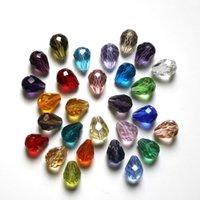 Branelli di cristallo allentati perline manuale perline goccia dritta foro gioielli rendendo donna uomo moda moda fai da te ornamenti 0 38sq k2