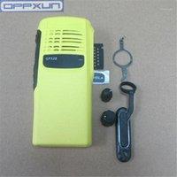 oppxun amarelo shell para motorola gp328 pro5150 gp340 rádio acessórios shell1