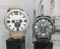 Cronografo automatico da uomo Casual sport orologio da uomo Orologi al quarzo da uomo in pelle da uomo orologio orologio Relogio Super regalo per gli uomini