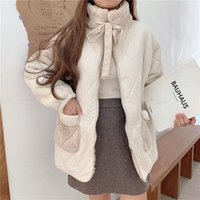 Women Cotton Padded Jacket Lamb Wool Coat Female Winter Kore...