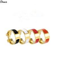 Donia Jewelry Luxury Ring Mode Anzug Email Titanium Steel Europäischer und amerikanischer kreativer übertriebener Designer mit Kasten