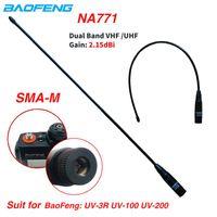 Walkie Talkie Baofeng Na-771 SMA-M Homme double bande 144/430MHZ NA771 Antenne de gain pour UV-3R UV-100 UV-200 WOUXUN KG-UV6D