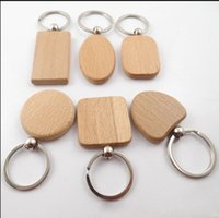 Enkel stil trä nyckelringar nyckelringar diy trä rund torg hjärta oval rektangel form nyckel hängande handgjorda nyckelring gåva 0854
