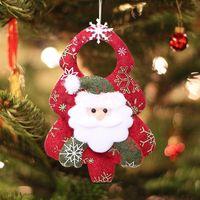 غير المنسوجة النسيج دمية شجرة عيد الميلاد المعلقات الأيائل سانتا كلوز ثلج الدب حلية عيد الميلاد شجرة عيد الميلاد شنقا pendan الجملة