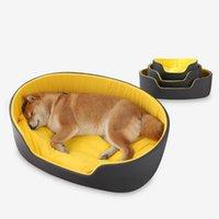 개집 펜 개 둥근 침대 대형 개에 대 한 둥근 침대 따뜻한 매트 접이식 소파 쿠션 고양이 잠자는 소프트 켄넬 빨 수있는 애완 동물 액세서리 겨울