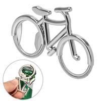 Apriscatole della bottiglia della bicicletta Catena chiave della catena della bici della bici dell'annata della bici di birra dell'Antivia del metallo della lega di zinco per l'amante della bici Wedding Favore Party IIF3929