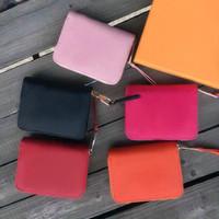 Moda Pelle breve raccoglitore per le donne del cuoio del supporto Portafoglio Lady Coin Purse Purse Money Bag Zipper Pouch Pocket Nota frizione carta