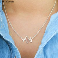 Pendant Necklaces Future Mrs Necklace Custom Name Just Married Engagement Gift Bride Jewelry Wedding1