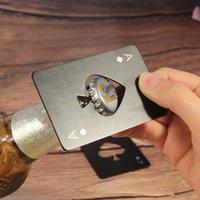 Paslanmaz Çelik Maça Bir Şişe Açacağı Kişilik Oyun Kart Şekli Bira Şişeleri Açıcılar Mutfak Aletleri Sıcak Satış 0 95QN F2