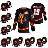Calgary Flames 2021 Ters Retro Jersey Ryan Jacob Markstrom Theoren Fleury Milan Lucic Juuso Valimaki Matthew Tkachuk Christopher Tanev