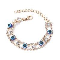 S1978 Hot Fashion Jewels Evil Eye Bracciale Eye Rhinstone Bracciale blu Bracciale