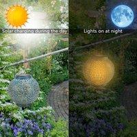 Nowy Design F8 Słomy Kapelusz Koraliki Słoneczne Kontrola światła Automatyczna indukcyjna dekoracja ogrodowa Outdoor Wodoodporna Ogród Retro żelaza Lampa
