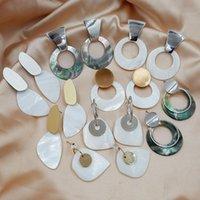 Dangle Chandelier Sea Shell Orecchini per le donne Gioielli di moda Round Drop Big Regalo di dichiarazione irregolare del partito