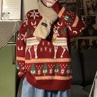 Erkekler Kadınlar Unisex Noel Kazak Komik Ren Geyiği Baskılı Noel Kazak Kış Crewneck Kış Noel Kazak Tops