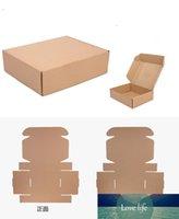 التجزئة 18 * 11 * 6 سنتيمتر 10 قطعة / الوحدة بني ورقة كرافت مربع هدية مربعات التعبئة والتغليف تخزين كرافت مربع صناديق البريد مربع