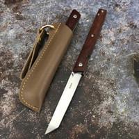 PDG 7096 Couteau pliant 9Cr18MOV Poignée en bois Camping Couteau de poche de poche survie tactique de chasse portable multiples outils d'extérieur EDC