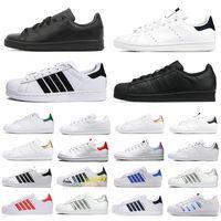superstar stan smith  Rahat ayakkabılar Ucuz Raf Simons Stan Smiths Bahar Bakır beyaz Pembe Siyah Moda Adam Deri marka kadın erkek ayakkabı Flats Sneakers