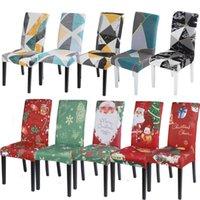الأزهار المطبوعة نمط غطاء كرسي تمتد مقعد يغطي غرفة الطعام القابل للإزالة قابل للغسل غطاء مقعد fundas الفقرة sillas دي COMEDOR
