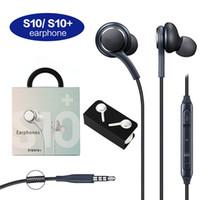 S10 이어폰 헤드셋 삼성 갤럭시 S8 S9 S10 노트 6 7 8 헤드폰베이스 헤드셋 이어폰 스테레오 사운드 헤드폰 상자에