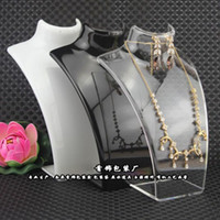 Monili di modo Display Busto Busto Scatola di immagazzinaggio Acrilico Porta gioielli Manichino per orecchini Hanging Collana Stand Supporto Bambola 2021