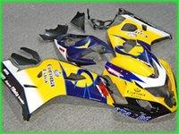 사용자 정의 노란색 파란색 AD02 페어링 키트 2004 년 2005 Suzuki GSXR 600 750 K4 GSXR600 GSXR750 04 05 GSX R750 페어링
