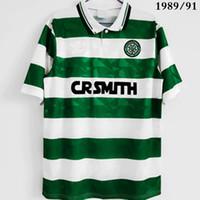 Top 1998/1999 Celtices Retro Soccer الفانيلة أطقم خمر 1991/1992 قمصان كرة القدم Larsson 7 Lambert Viduka Moravcik Mjallby Blinker 1989/1991 Futbol Shirt Size S-XXL