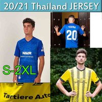 2020 2021 Real Oviedo Soccer Jerseys IBRA R. Folch Y. Bárcenas Johannesson Mossa Javi Muñoz Мужские гомбры Монтаж Домашняя футболка