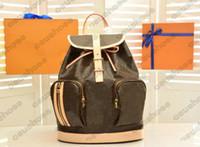 M40107 بوسفور حقيبة ظهر خمر إمرأة جلد زهرة إلكتروني قماش أكياس رجالي حجم كبير مصممي العلامة التجارية حقيبة الظهر