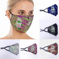 Christmas Bling Sequins Face Mask Dust- proof and Droplet- pro...