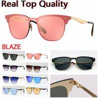 نظارات شمسية مصمم 2020 للرجال نظارات رجالي نظارات شمسية UV حماية العدسات جلدية، قماش، جميع الملحقات حزمة البيع بالتجزئة!