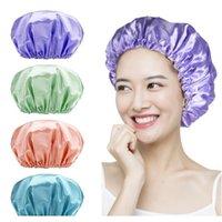 Dupla cor à prova d 'água ding tampa de banho com novo cor liso forro para mulheres adultas dupla impermeável f sqcprw