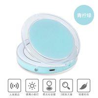 Kompakter Kosmetikspiegel Hand Make-Up-Objektiv LED USB-Aufladung Berührungsempfindliche Schalterspiegel Tragbare Falten Intelligenz Lightweight NEUE 32XY M2