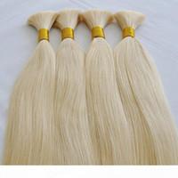 Promosyonlar Özel Teklif 100% İnsan Saç 100g 50 cm 60 cm Kalın Ucuz Sarışın İnsan Saç Toplu Satmak Toplu Saç Sarışın