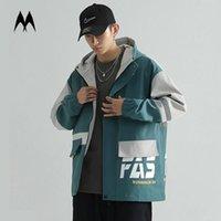 Мужские куртки KPOP Куртка Мужчины Streetwear 2021 Бренд Застежка на молнии Windbreaker High Street Multi Pocket Cargo Harajuku