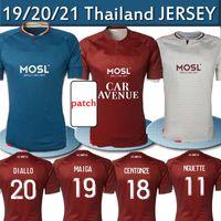 20 21 FC Metz Futebol Jerseys Diallo 20 Centonze 18 Vagger 27 Niane 7 Fofana 6 Home 2020 2021 Jersey Camisas de futebol Tailândia