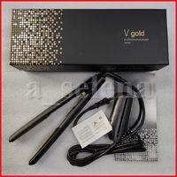 الخامس الذهب ماكس مستقيم الشعر الكلاسيكية المهنية الطراز سريع الشعر فرد الشعر الحديد تصفيف الشعر أداة الحديد المسطح