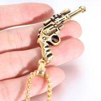 Pingente colares macho soldado moda branco / dourado aço inoxidável cadeia arma forma homens jóias exército para o presente do homem